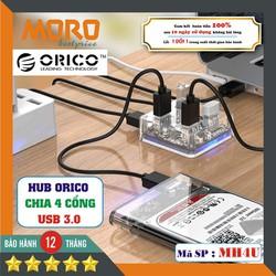 Hub USB 3.0 - Bộ chia 4 cổng USB 3.0 -[TRONG SUỐT]