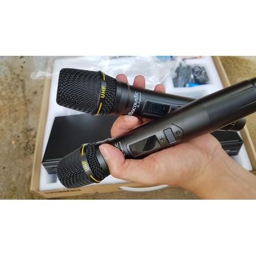 Mẫu micro gia đình: micro không dây db 500c giá tốt | với bộ mic không dây db 500c có thể hát karaoke 9 giờ liên tục mà không sợ hết pin