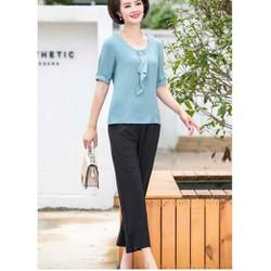 áo voan trung niên cao cấp (thời trang trung niên Lolita xinh) LL521-919