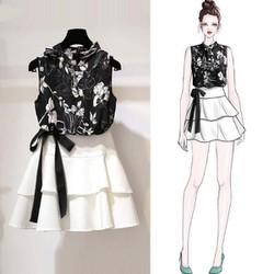 Bộ Váy Áo voan siêu đẹp