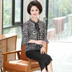Áo voan da beo cao cấp (thời trang trung niên Lolita xinh)  LL575-919