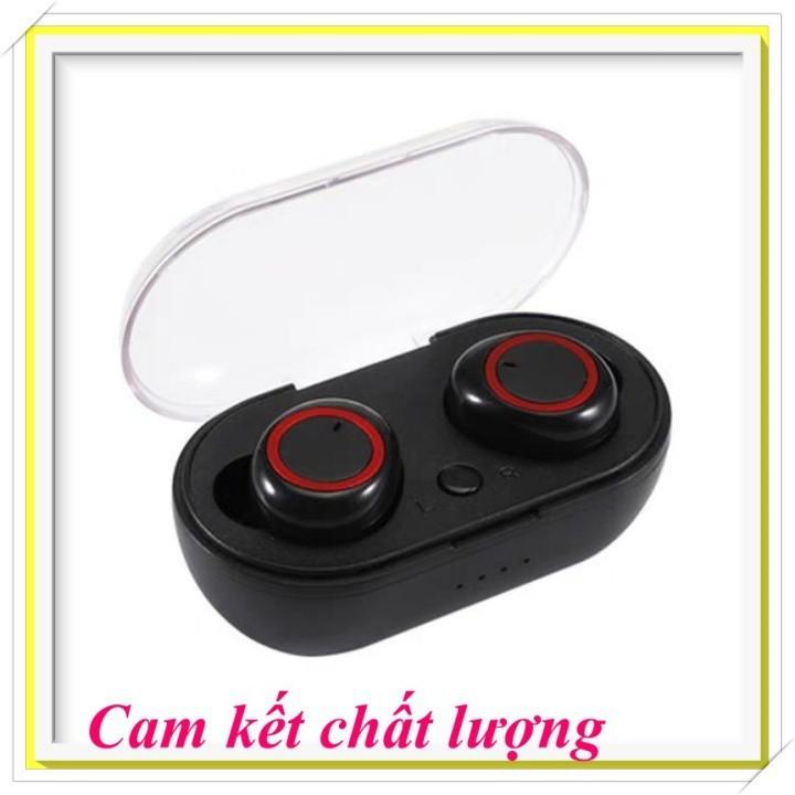 Tai Nghe Bluetooth Thể Thao TWS D76  Kiểu Airpod 2 Tai Kèm Dock Sạc