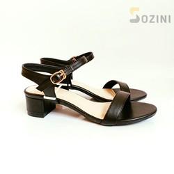 [duoc xem hang][042] giày sandal cao gót vuông 3cm Sozini quai ngang hở hậu siêu xinh