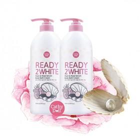 Combo 2 sữa tắm dưỡng trắng da Ready 2 white - Tinh chất NGỌC TRAI & HOA HỒNG - 1 chai 500ml - 2 sữa tắm Ready 2 white