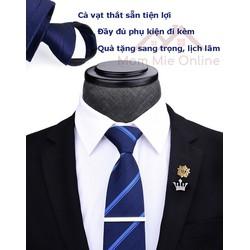 Bộ cà vạt nam thắt sẵn dự tiệc, làm quà tặng HVY nhiều kiểu