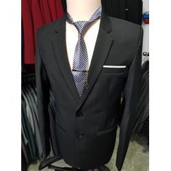 Áo vest nam kiểu 2 nút màu đen