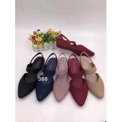 Giày sandal nữ đế xuồng 2 quai hàng nhập