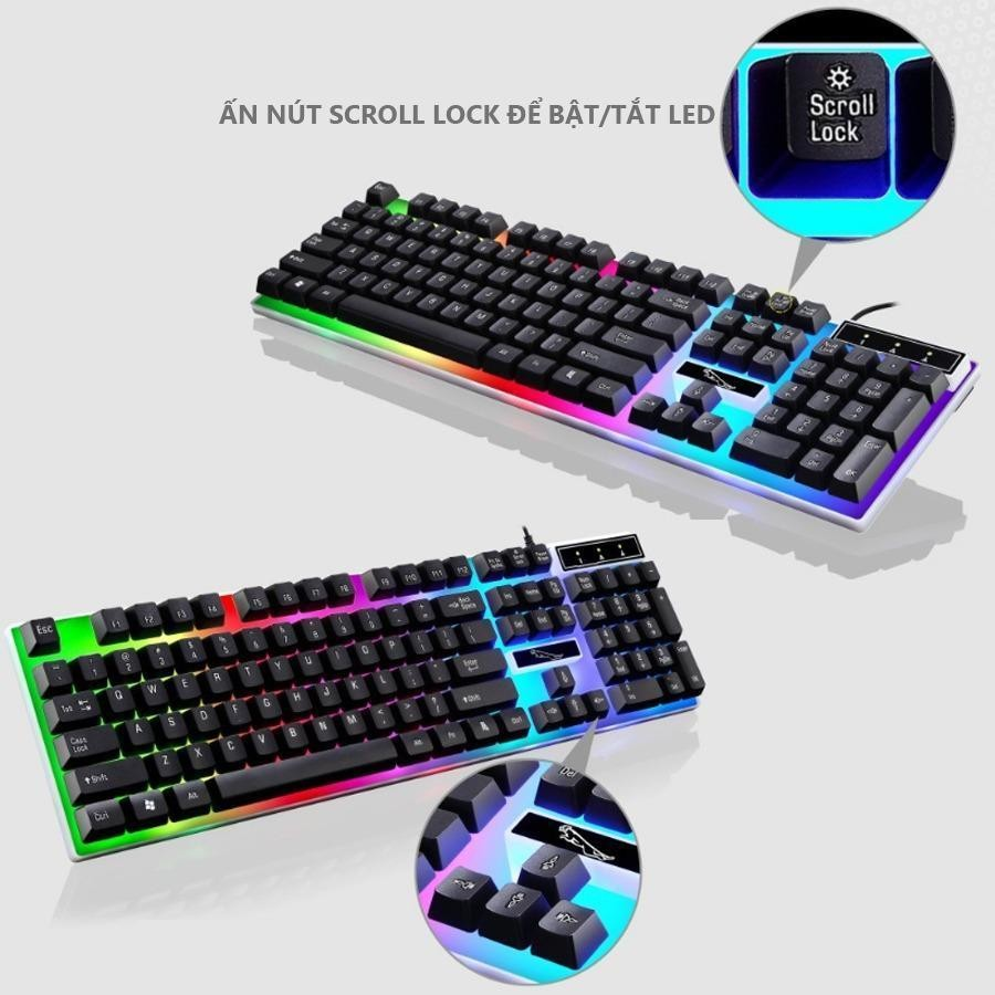 Bàn phím máy tính phát sáng TẶNG KÈM CHUỘT
