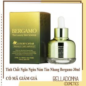 Tinh Chất ngăn ngừa Nám Tàn Nhang Bergamo Luxury Skin Science Luxury Caviar Wrinkle Care Ampoule 30ml - Bergamo.lun.xanh