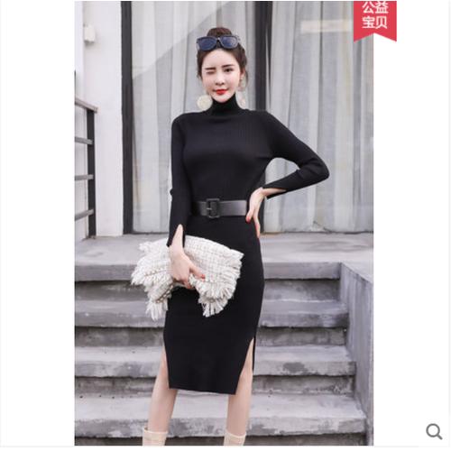 Đầm len nữ dáng dài body kiểu dáng xinh xắn