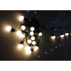 Dây trang trí ngoài trời Bộ dây treo kín nước dài 10m 20 đui đèn E27