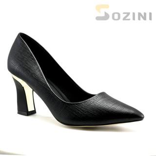 [hỗ trợ phí ship][được xem hàng] Giay cao got SOZINI 7cm gót viền đồng siêu sang - SZ7.070.0 thumbnail
