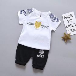 [NHẬP SD189D GIẢM 20K ] Sét bộ quần áo trẻ em in hình mặt hổ dành cho bé trai 1-5 tuổi tương đương 8-18 kg