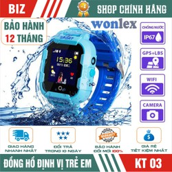 Đồng hồ định vị trẻ em WONLEX KT03 - CÓ CAMERA - CHỐNG NƯỚC IP67 - HÀNG CHÍNH HÃNG