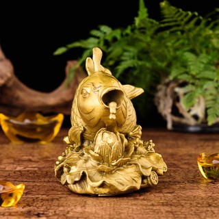 Tượng linh vật cá chép cưỡi hoa sen phun châu bằng đồng thau phong thủy Hồng Thắng [ĐƯỢC KIỂM HÀNG] 21851497 - 21851497 thumbnail