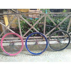 vành xe đạp cỡ 20 đan sẵn lan hoa và may ơ thường - hàng mới