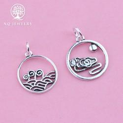 Phụ kiện bạc phụ kiện treo hình đám mây, sóng biển - NQ Jewelry