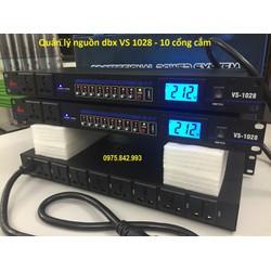 Thiết bị quản lý dòng điện DBX  V S 1028-10 cổng cắm âm thanh-nút tắt từng kênh-màn hình hiển thị
