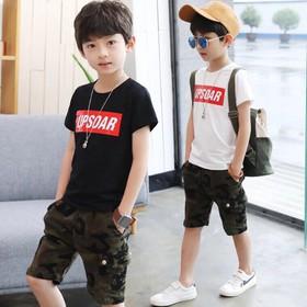 Sét bộ quần áo trẻ em in hình chữ UP dành cho bé trai 18-28kg chất vải đẹp - 209