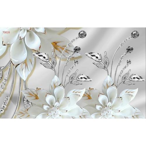 Tranh dán tường hoa 3d in khổ lớn zalo 0967959399