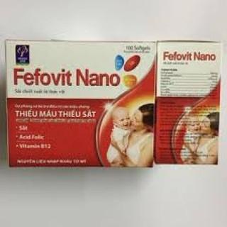 combo 2 hộp Fefovit Nano Bổ Sung Sắt Thiết Yếu Cho Phụ Nữ Có Thai Và Cho Con Bú NGười Hoa Mắt Chóng Mặt- SAT00015 - Fefovit Nano - hop 100 vien 5