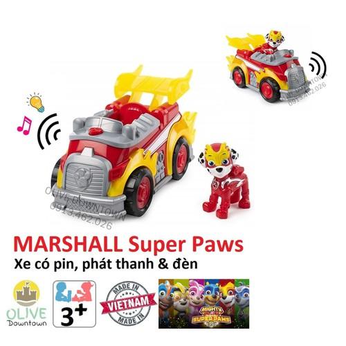 Bộ lớn marshall lái xe siêu tốc có đèn & nhạc - những chú chó cứu hộ paw patrol