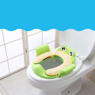 Bệ lót bồn cầu hình ếch có tay vin cho bé - bệ lót - Bệ lót bồn cầu hình ếch thumbnail