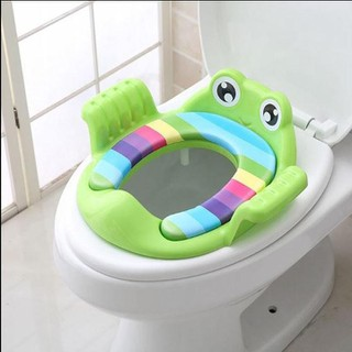 Bệ lót bồn cầu cho bé - Bệ lót bồn cầu cho bé hình con ếch dễ thương - lót bồn cầu - siêu dễ thương thumbnail