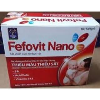 combo 2 hộp Fefovit Nano Bổ Sung Sắt Thiết Yếu Cho Phụ Nữ Có Thai Và Cho Con Bú NGười Hoa Mắt Chóng Mặt- SAT00015 - Fefovit Nano - hop 100 vien 7