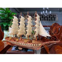 Mô hình Thuyền buôn FRANCE II Gỗ tự nhiên - Loại đẹp - Thân 80cm