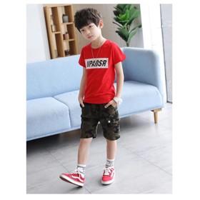 Sét bộ quần áo trẻ em in hình chữ UP dành cho bé trai 6-10 tuổi tương đương 18-28kg chất vải đẹp - 210