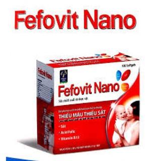 combo 2 hộp Fefovit Nano Bổ Sung Sắt Thiết Yếu Cho Phụ Nữ Có Thai Và Cho Con Bú NGười Hoa Mắt Chóng Mặt- SAT00015 - Fefovit Nano - hop 100 vien 1