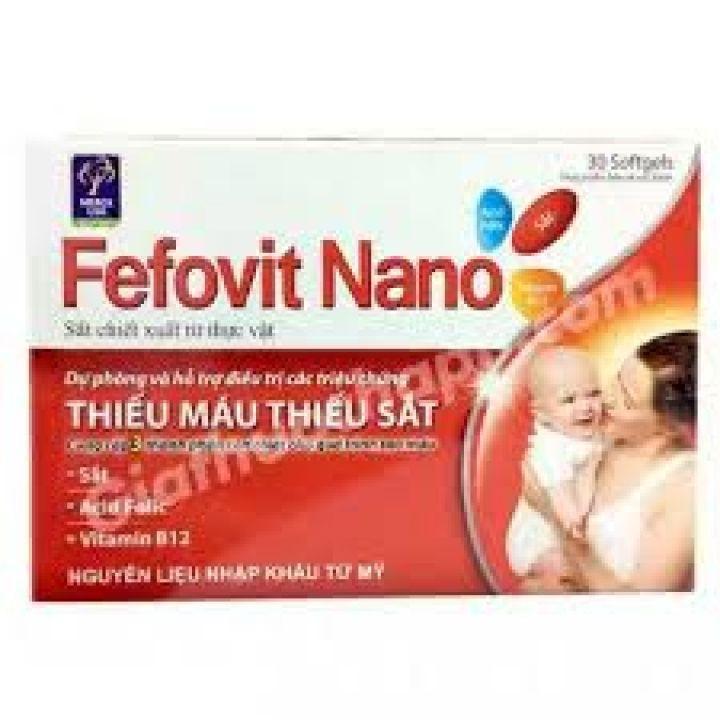 combo 2 hộp Fefovit Nano Bổ Sung Sắt Thiết Yếu Cho Phụ Nữ Có Thai Và Cho Con Bú NGười Hoa Mắt Chóng Mặt- SAT00015 - Fefovit Nano - hop 100 vien 3