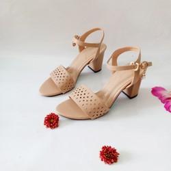 [hỗ trợ 10k phí ship][AT045] Sandal cao gót 7cm Sozini quai laze