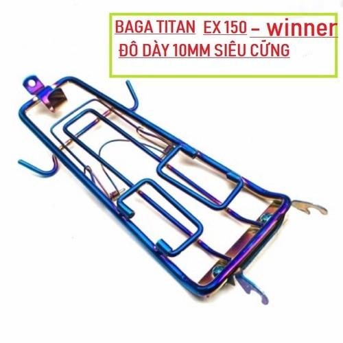 Baga titan 7 màu ex150 - winner 150 loại dày 10li - phụ kiện xe máy