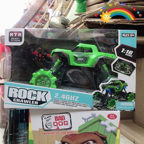 Bán đồ chơi xe điều khiển vượt chướng ngại vật màu xanh [đồ chơi an toàn]