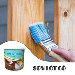 Sơn gỗ gốc nước, sơn lót gỗ làm phẳng, lấp tim gỗ SANDING SEALER,sơn gỗ an toàn,sơn gỗ không độc hại.sơn gỗ đồ chơi trẻ em