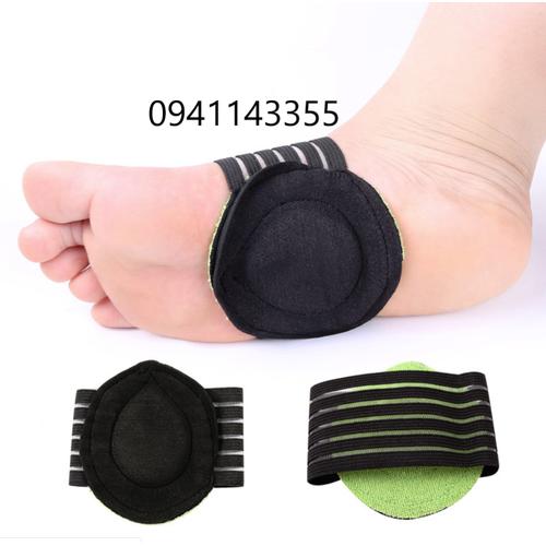2 đôi lót giày vải thun nỉ silicon đệm êm giảm đau lòng bàn chân, nam nữ, bộ 4 chiếc
