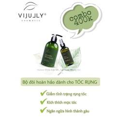 Combo dầu gội và xịt tinh dầu bưỡi Vijully