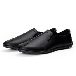 Giày lười nam mẫu mới 2019 da pu cao cấp đế cao su chống trơn trượt BM001