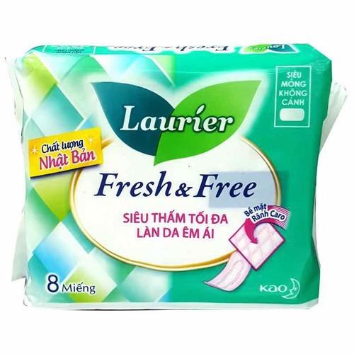 Băng vệ sinh laurier fresh and free siêu mỏng không cánh 8 miếng - 17614414 , 21925133 , 15_21925133 , 13500 , Bang-ve-sinh-laurier-fresh-and-free-sieu-mong-khong-canh-8-mieng-15_21925133 , sendo.vn , Băng vệ sinh laurier fresh and free siêu mỏng không cánh 8 miếng