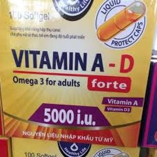 [Combo 2 Hộp ] Viên Uống Vitamin A D đẹp da chống lão hoá mịn daHộp 100 viên-VIM0020 - VIM0020 thumbnail