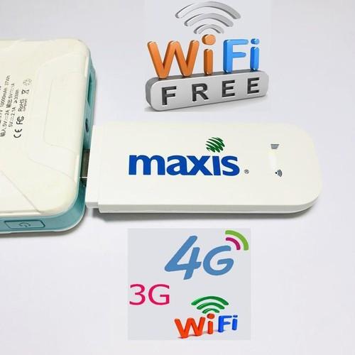 Usb wifi từ sim 3g 4g maxis mf70- có khe sim và khe thẻ nhớ