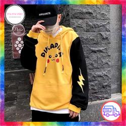 [HỖ TRỢ VẬN CHUYỂN 99K] Áo Khoác Hoodie Nam Nữ Pikachu Dễ Thương