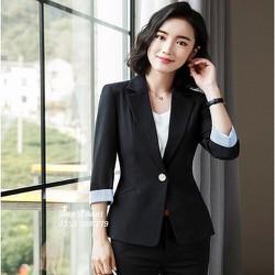Áo khoác vest blazer phối màu sang trọng nhiều size form dáng chuẩn thích hợp mặc công sở