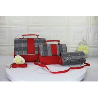 Bộ 3 túi xách phối màu sọc MS0147 - MS0147 thumbnail