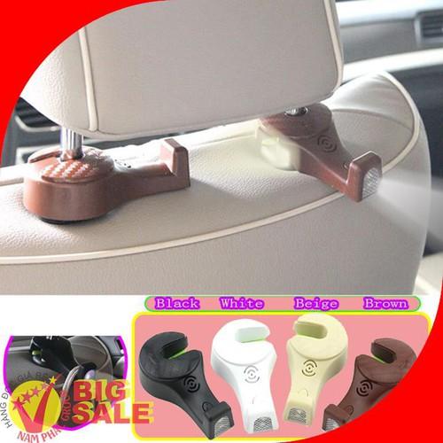 Móc đồ sau ghế xe hơi có đèn led chịu tải 10kg