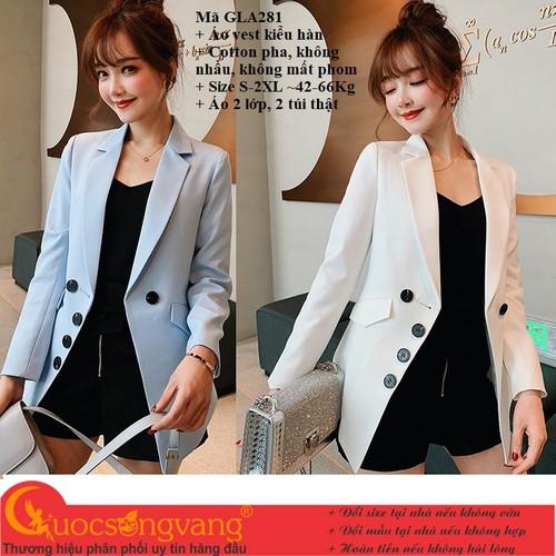 Áo vest nữ kiểu hàn áo khoác nữ đẹp gla281