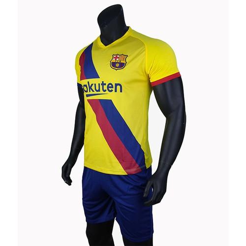 Bộ quần áo bóng đá barcelona vàng sân khách 2019-2020