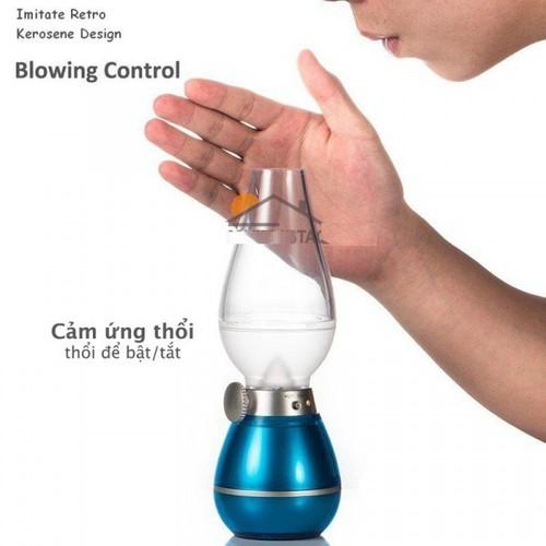 Đèn điện cảm ứng thổi bật tắt - kiểu dáng hình đèn dầu